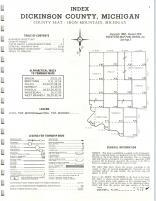 Index Map, Dickinson County 1975